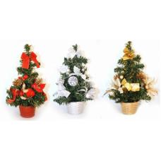 Елка новогодняя с украшением (в горшке), h=20 см (152YX301301)