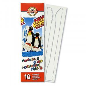 Пластилин 10 цв KOH-I-NOOR Пингвин 200 гр (131506)