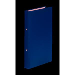 Папка 2 кольца картон (A5) Donau d-20 мм 30 мм полипропилен покр синяя (3718001-10)