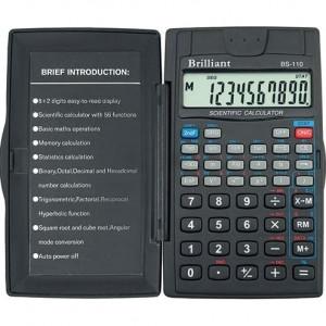 Калькулятор BRILLIANT BS-110 10 разр 70 x 120 x 10 мм научный