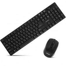 Комплект (мышь+клавиатура) Crown CMMK-954W Black
