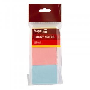Блок стикеров 40 х 50 мм 100 шт Axent пастельный цвет ассорти (D3311)
