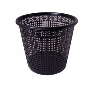 Корзина для мусора пластик 8 л (решетчатая-круглая) черная Buromax (BM.1921-01)