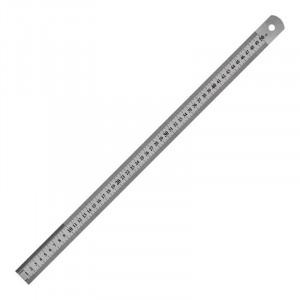 Линейка металлическая 50 см Axent, шкала в см и дюймах (7750-A)