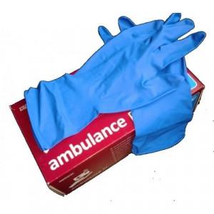 Перчатки латексные L-9 Seven Ambulance (медиц) синие 1 пара (пакуются по 100 шт/50 пар)