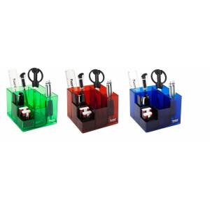 Набор настольный вертушка 9 предм Axent Cube синий (2106-02-A)