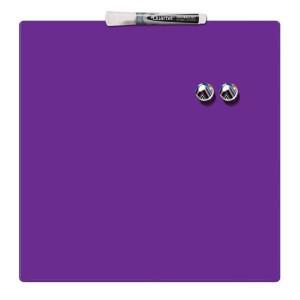 Доска сухостираемая 360 х 360 мм Rexel Quartet магнитно-маркерная фиолетовая (1903897)