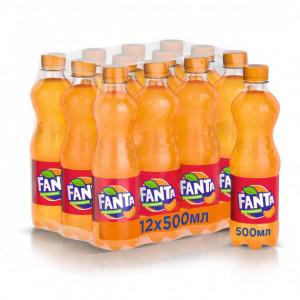 Вода сладкая газир 0,5 л х 12 шт пластик Fanta Мандарин