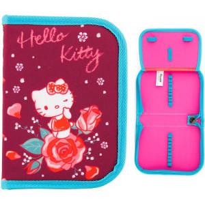Пенал мягкий 1 отд с отворотом KITE 621 Hello Kitty-1 (HK18-621-1)