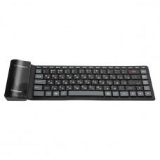 Клавиатура беспрводная CROWN CMK-6001 Black (гибкая, силиконовая)