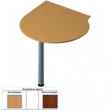 Секция приставная радиусная для стола (90х90/70х1,6) см (БЮ207)