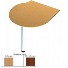 Секция приставная радиусная для стола (90х90/70х1,6) см (БЮ208)