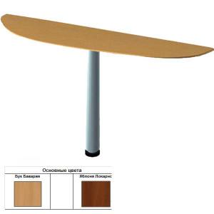 Секция приставная радиусная для стола (60х70х1,6) см (БЮ200)