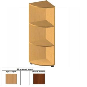 Стеллаж радиусный открытый (35х35х110.3) см БЮ508 (бук бавария)