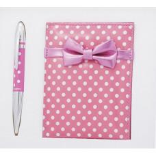 Набор подарочный Langres MONRO (ручка шариковая + зеркальце) розовый (LS.122036-10)