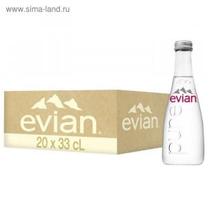 Вода минеральная негазир 0,33 л х 20 шт стекло Evian