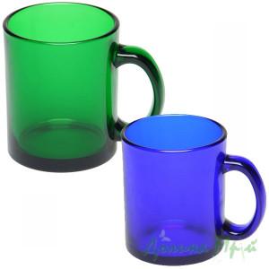 Чашка стеклянная цветная ФРОСТ (300 мл.)