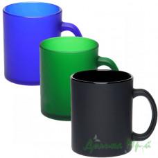Чашка стеклянная цветная ФРОЗЕН (300 мл.)