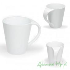 Чашка с блюдцем, белая СИМОНА (300 мл.)