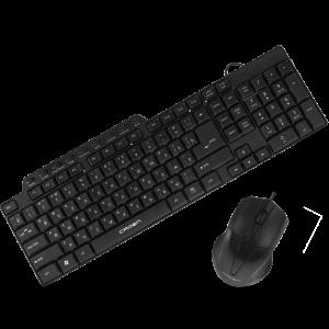 Комплект (мышь+клавиатура) Crown CMMK-520B USB Black