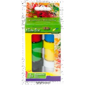 Гуашь 6 цвет х 20 мл ZIBI (ZB.6655)