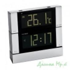 Часы настольные Nobrand 44210207 (металл, серый+черный)