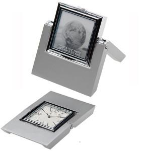 Часы настольные Nobrand 90300495 (металл, серебристый)