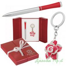 Набор подарочный Langres ROSE (ручка + брелок) красный (LS.122002-05)