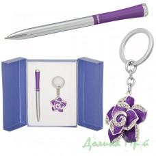 Набор подарочный Langres ROSE (ручка + брелок) фиолет (LS.122002-07)