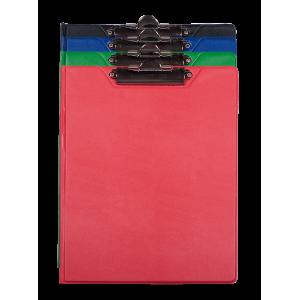 Папка-планшет с верхним зажимом ПВХ (А4) BuroMax (клипборд) ассорти (BM.3415-99)
