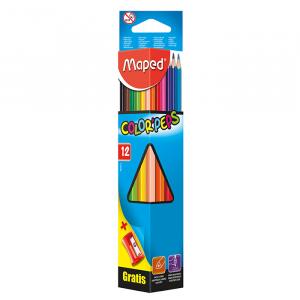 Карандаши цветные 12 цв х 12 шт + точилка Maped Color Peps Classic (MP.183213)