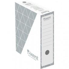 Бокс архивный картон 100 мм 255 х 350 мм Axent серый (1732-03-A)