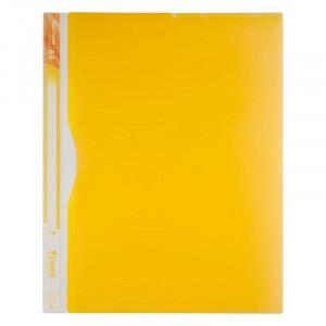 Папка-уголок (А4) 180 мкм на 5 отд полупрозр желтый Axent (1481-08-A)