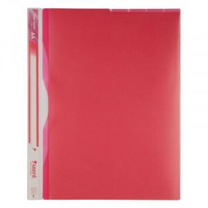 Папка-уголок (А4) 180 мкм на 5 отд полупрозр розовый Axent (1481-10-A)