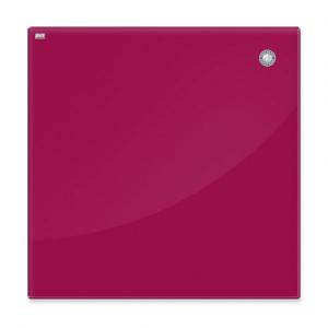 Доска стеклянная магнитно-маркерная 2x3, 80 х 60 см, цвет: красный (TSZ86R)