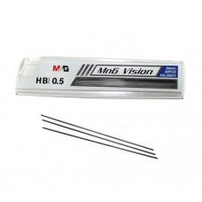 Грифели для механических карандашей 0,5 мм, HB, M&G, (20 шт) (ASL35071)