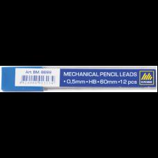 Грифели для механических карандашей 0,5 мм, HB, BUROMAX, (12 шт) (BM.8699)