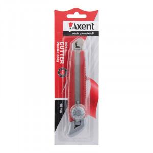 Нож канцелярский большой с мет. направл. Axent 18 мм, фиксация винтовая (6604-A)