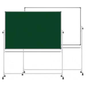 Доска комбинированная 90 х 120 см Ukrboards алюм рамка маркерно-меловая оборотно-мобильная (UB-R90x120GW)