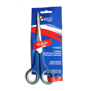 Ножницы офисные 165 мм (резиновые вставки) EAGLE (TY806S)