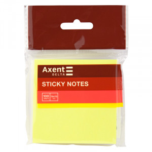 Блок стикеров 75 х 75 мм 100 шт Axent неоновый цвет, ассорти (D3414-11)