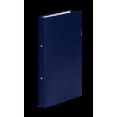 Папка 2 кольца картон (A4) Donau d-20 мм 35 мм полипропилен покр темно-синяя (3732001-18)
