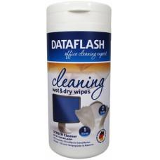Салфетки для TFT (бокс) Data Flash (50 влаж + 50 сухих) (DF1511)