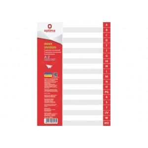 Разделитель страниц пластик (серый) (алфавит A-Z) А4 Optima (O35813)