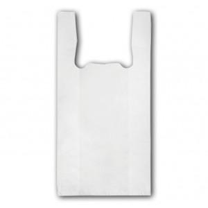 Пакет полиэтилен Майка 24 + 12 х 44 см 20 мкм (100 шт) усиленные (белые)
