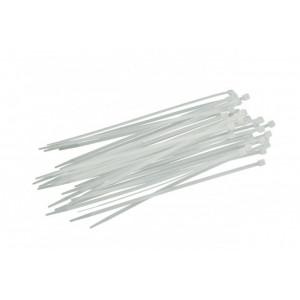 Стяжка кабельная 4,8 х 400 мм, цвет: белый (100 шт)