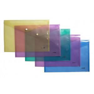 Папка на кнопке пластик (А4) 4Office 4-208 (ассорти)