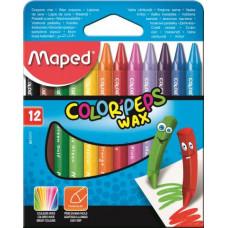 Мел восковый MAPED Color Peps Wax Crayons 12 цветов (MP.861011)