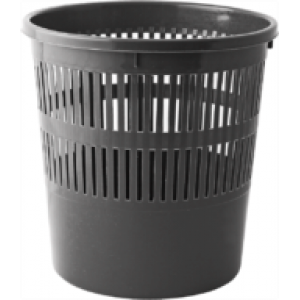 Корзина для мусора пластик 8 л (решетчатая-круглая) черная BUROMAX Jobmax (BM.1920-01)