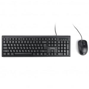 Комплект (мышь+клавиатура) Vinga KBS806 black